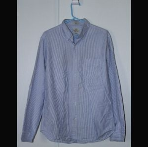 J Crew Striped Mens Button Up